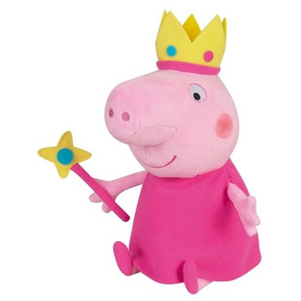 Nickelodeon knuffel prinses Peppa Pig pluche rood 25 cm