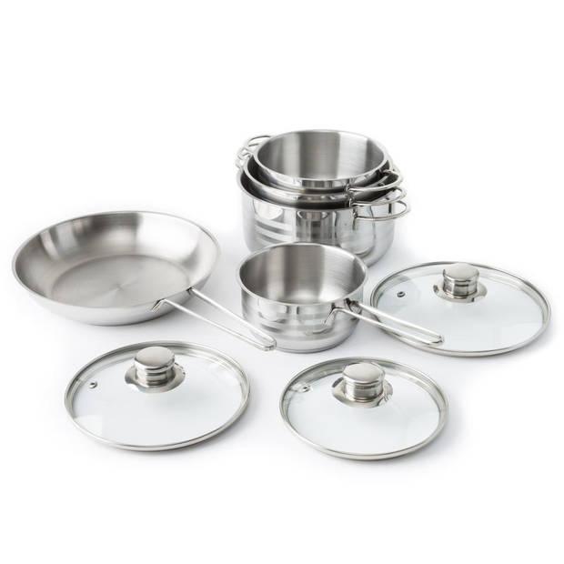 Imperial Kitchen pannenset - RVS - 5-delig
