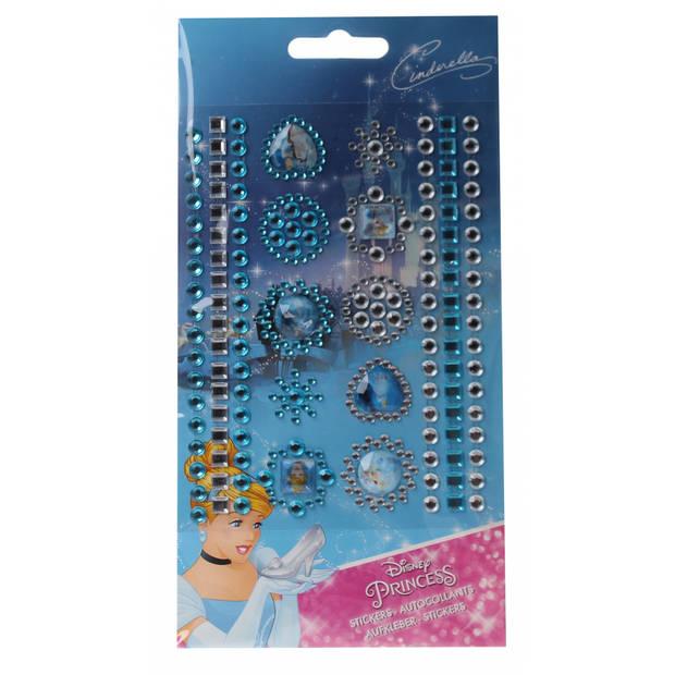 Slammer Princess stickers 119 stuks meisjes blauw