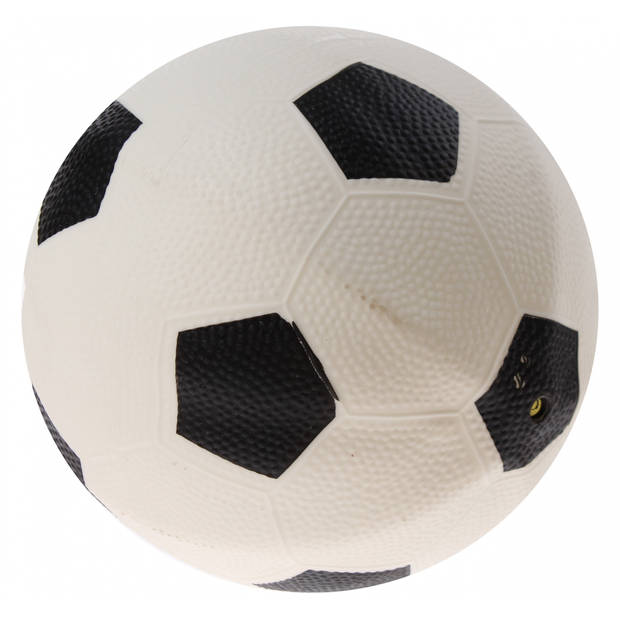 TOYRIFIC bal voetbalprint 21 cm wit