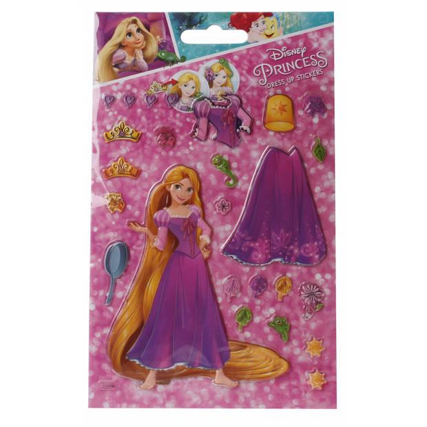 Slammer Princess aankleedstickers 19 stuks meisjes roze