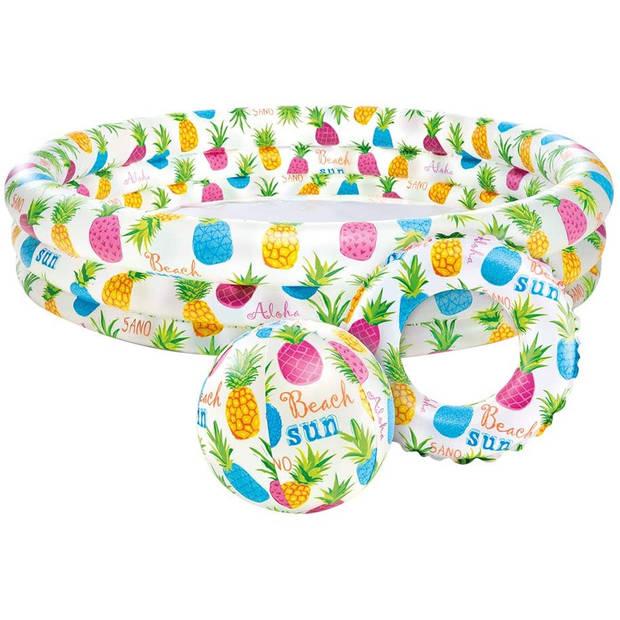 Intex opblaaszwembad set Fish Bowl 132 x 28 cm 3-delig