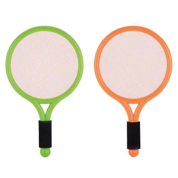Toyrific badmintonset Summer Fun 38 cm groen/oranje 4-delig