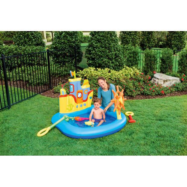 Bestway kinderzwembad speelboot 140 x 130 x 104 cm