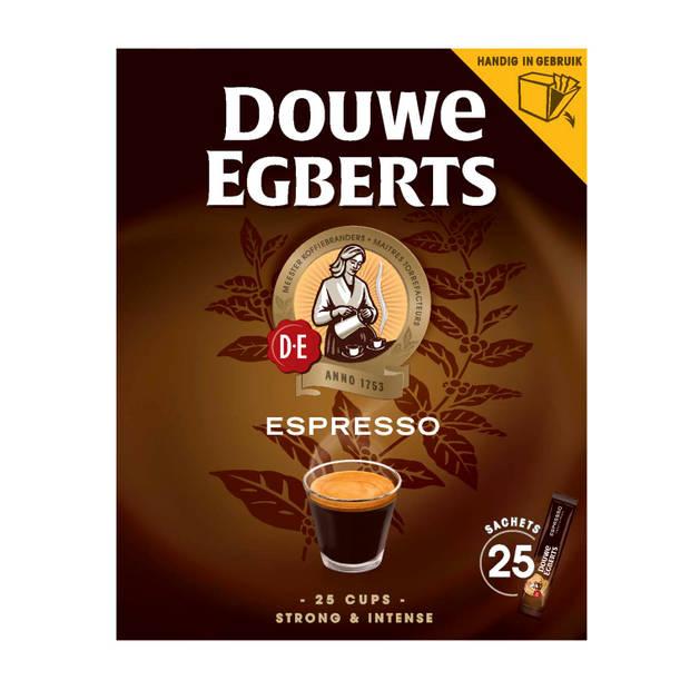Douwe Egberts Espresso sticks oploskoffie 25 stuks