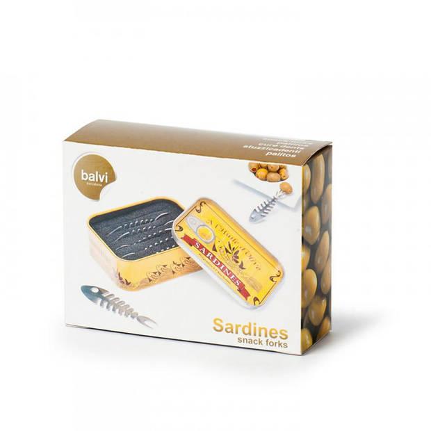 Balvi Sardines snack vorkjes - 6 stuks