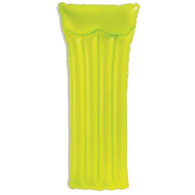 Intex luchtbed neon frost groen 183 x 76 cm
