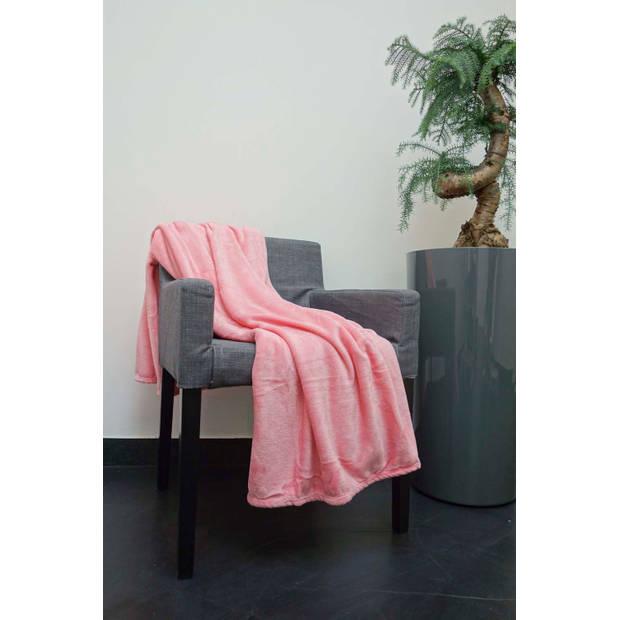 Dutch Decor Plaid Flanel 150x200 cm roze