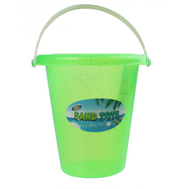 Yello speelemmer Glitter groen 17 x 19 cm