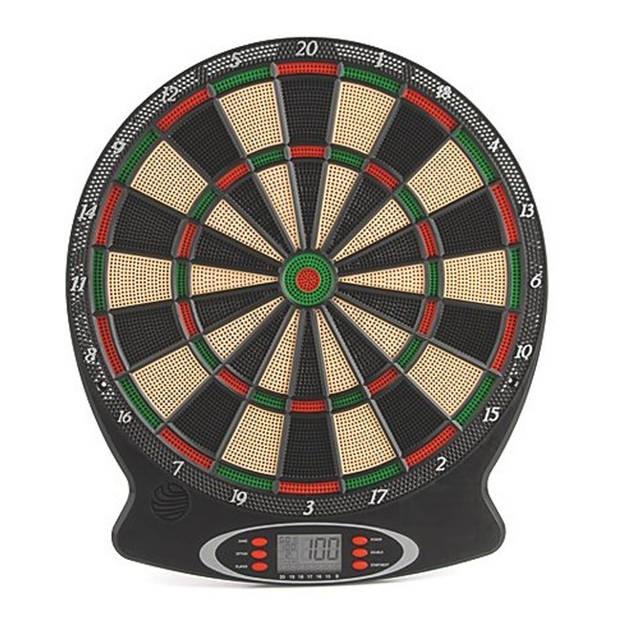 Toyrific electronisch dartbord met pijlen zwart 38x 44x3 cm