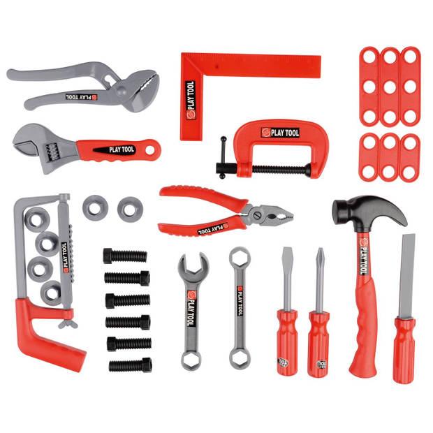 Toyrific gereedschapsset 30-delig rood/grijs