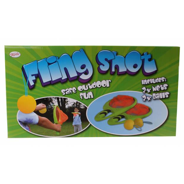 TOYRIFIC Fling shot vangset 4-delig groen 30 x 20 cm