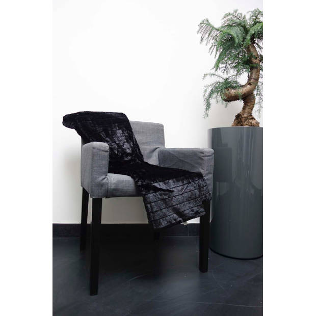 Dutch Decor Plaid Yorick 130x180 cm zwart