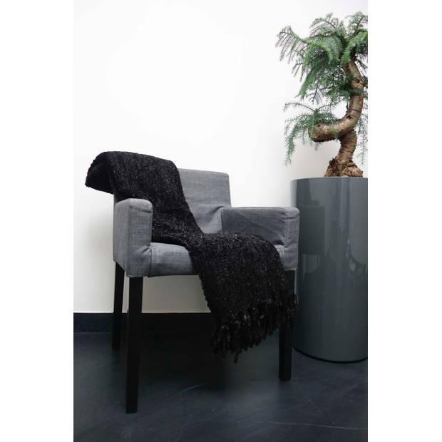 Dutch Decor Plaid Fedde 130x180 cm zwart