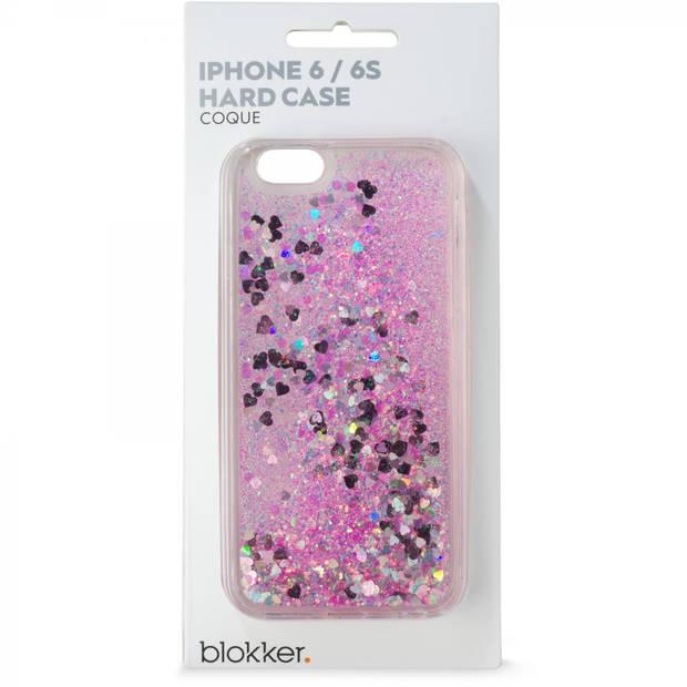 iPhone 6 Glitterhoesje Hartjes - roze