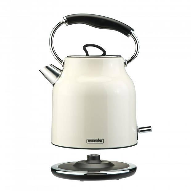 Bourgini waterkoker Nostalgic Deluxe crème - 1,7 liter