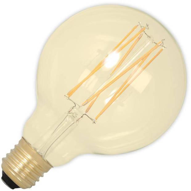 Calex LED volglas LangFilament Globelamp 220-240V 4W 320lm E27 G95, Goud 2100K Dimbaar