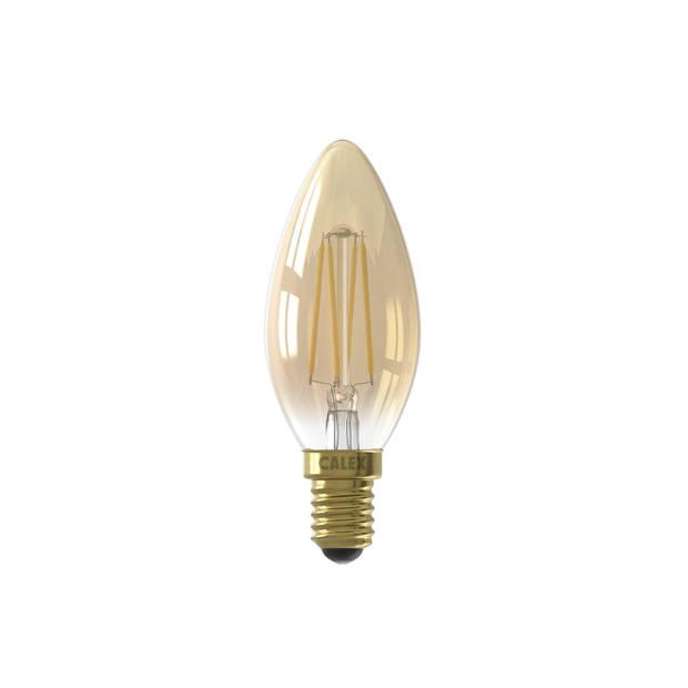 Calex Led Filament Kaarslamp Dimbaar - 3,5w - E14 - Goud