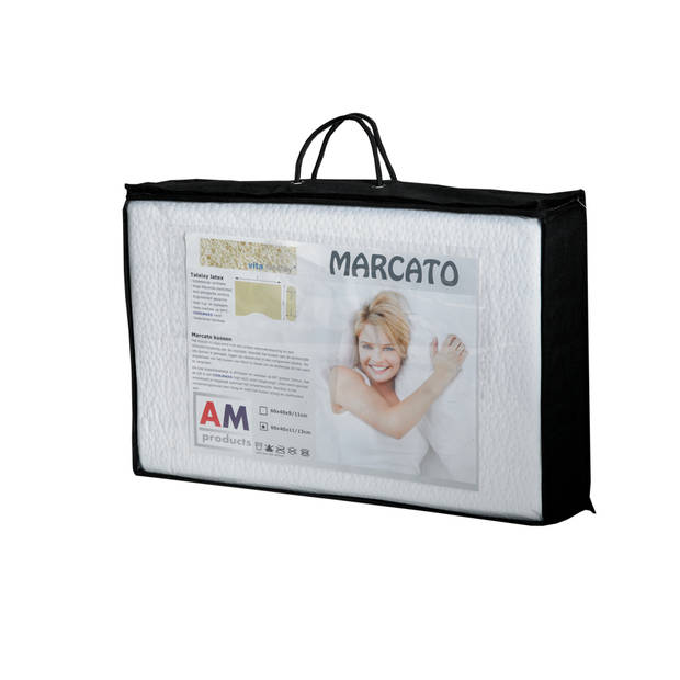 Amproducts Marcato talalay latex hoofdkussen Medium 9/11 cm.