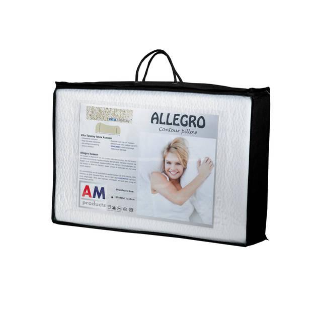 AMproducts Allegro talalay latex hoofdkussen Medium 9/11 cm