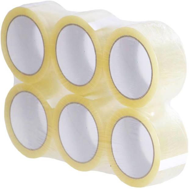 Benza - Verpakkingstape - Verpakkingsplakband - Transparant - 6 rollen