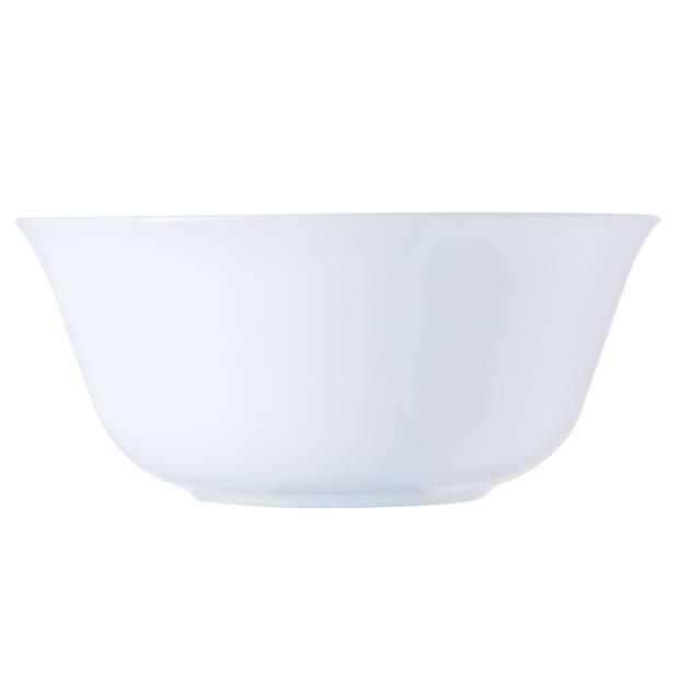 Schaaltje Carine - wit - 12 cm