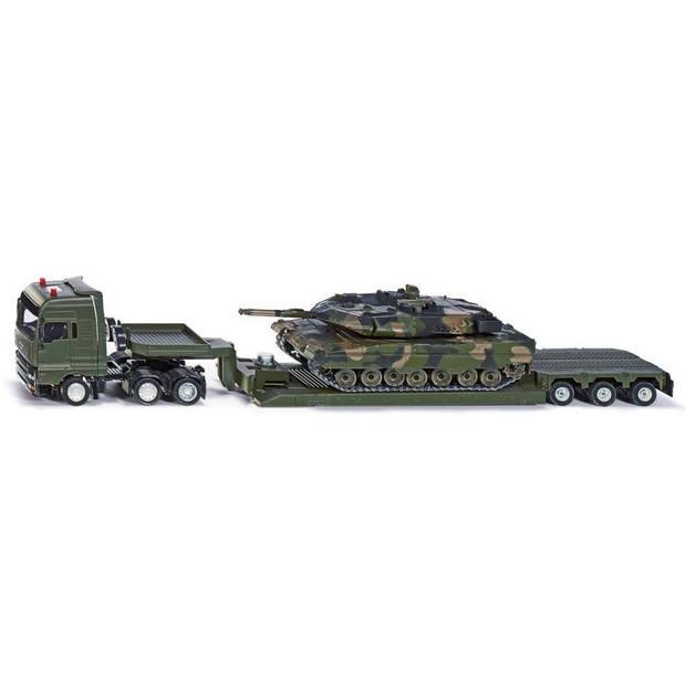 Siku Man dieplader Panzer tank 51 cm staal groen 3-delig (8612)