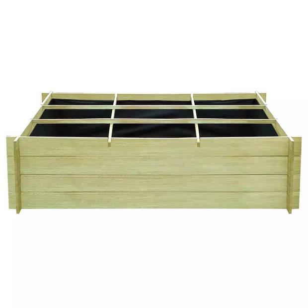 vidaXL Plantenbak verhoogd 150x100x40 cm geïmpregneerd hout