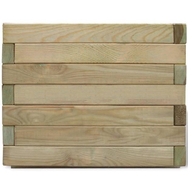 vidaXL Plantenbak verhoogd vierkant 50x50x40 cm hout