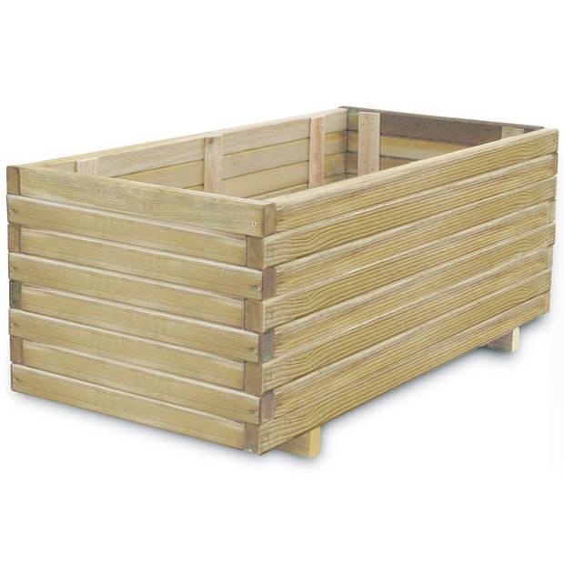 vidaXL Plantenbak rechthoekig 100x50x40 cm FSC hout