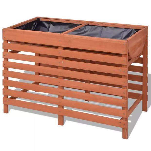 vidaXL Plantenbak 100x50x71 cm hout