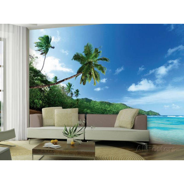 - Palmboom aan Strand - 360 x 253 cm - Multi