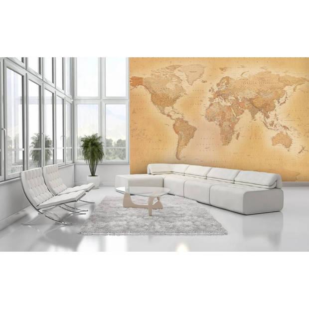 - Wereldkaart oud - 366 x 253 cm - Multi