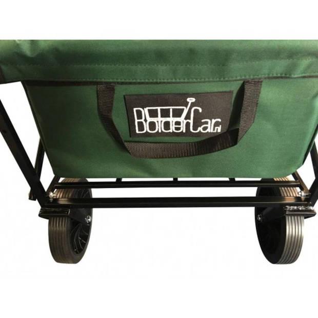 Bolderkar / Bolderwagen opvouwbaar groen met massieve wielen en opberghoes
