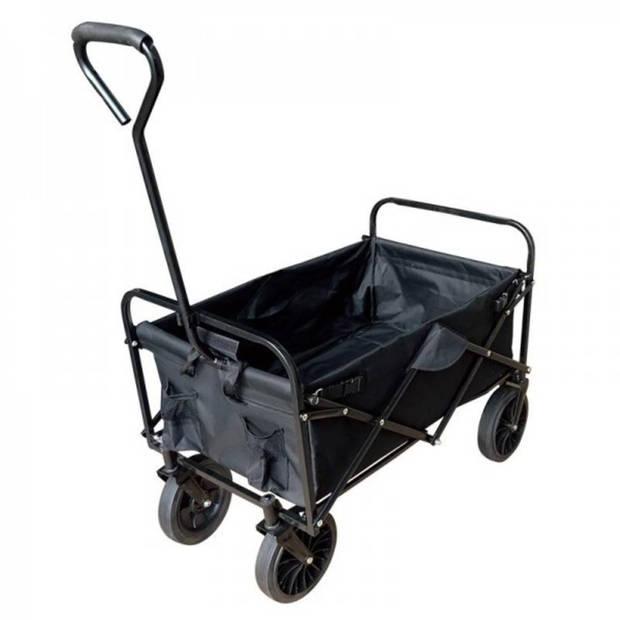 Bolderkar / Bolderwagen opvouwbaar zwart Limited Black Edition met massieve wielen en opberghoes
