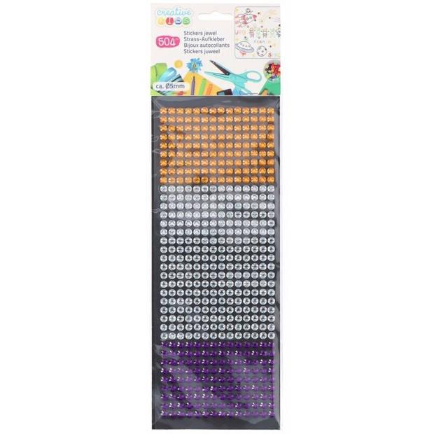 Creative Kids juwelen stickers 504 stuks