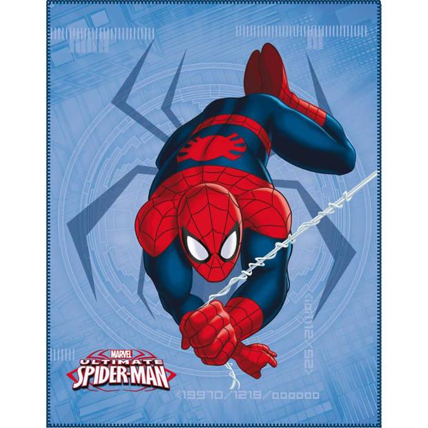 Spider - Plaid - 110 x 140 cm - Blauw