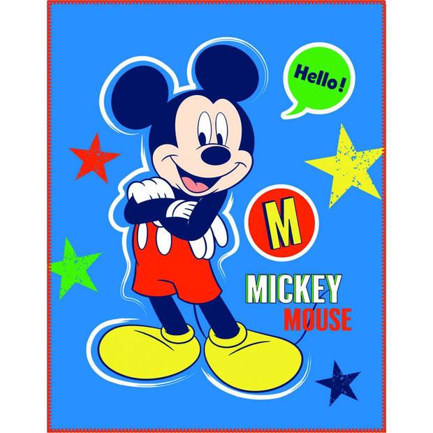 Disney Mickey Mouse Expressions - Plaid - 110 x 140 cm - Blauw