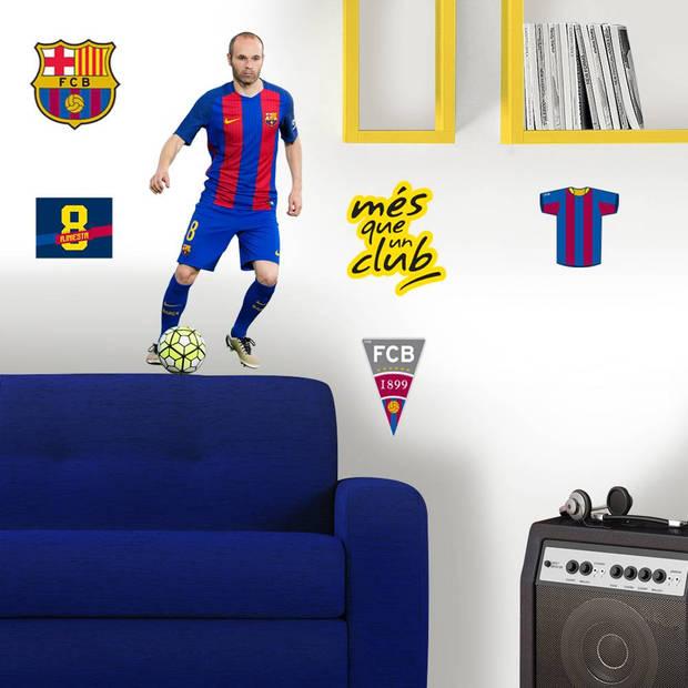 FC Barcelona Iniesta - Muursticker - 70 x 50 cm - Multi