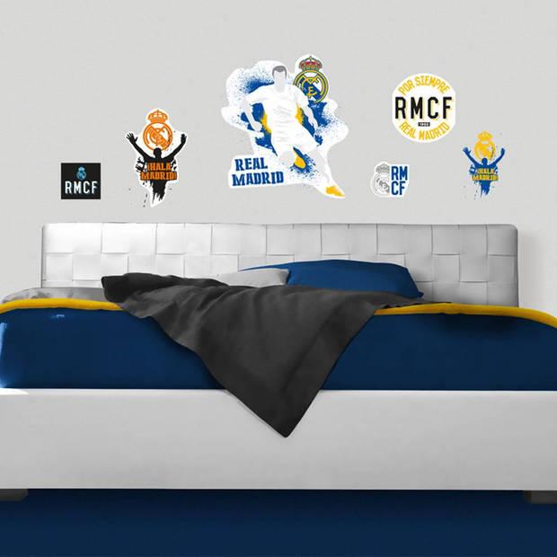 Real madrid logo urban - muursticker - multi