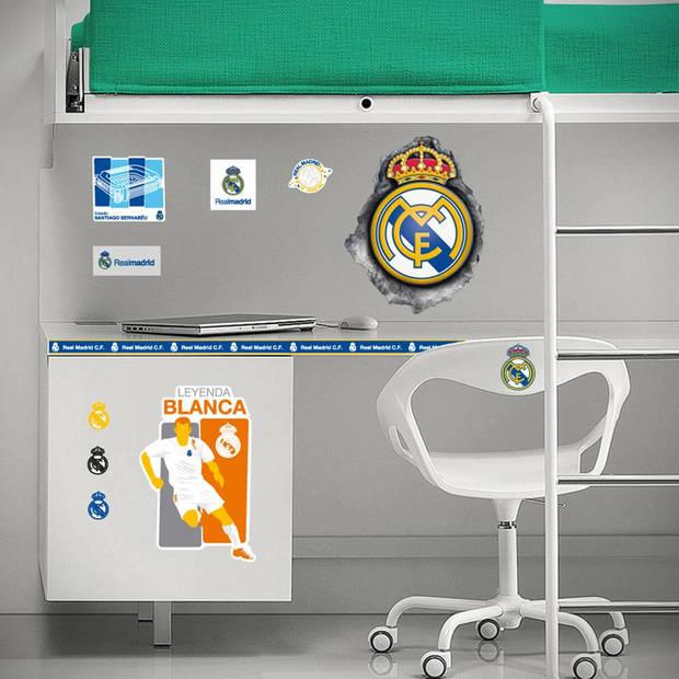 Real Madrid Logo in Hole - Muursticker - 60 x 60 cm - Multi