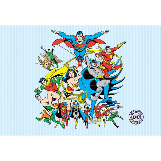 DC Comics Collage - Fotobehang - 232 x 158 cm - Multi