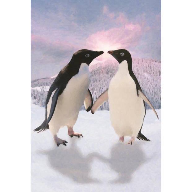 Pinguins - Fotobehang - 158 x 232 cm - Multi