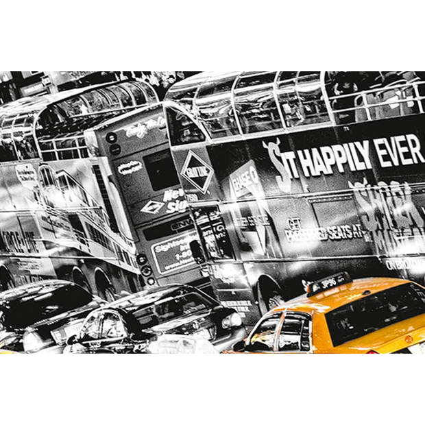 - Poster XXL - Cabs Queue - 175 x 115 cm - Multi