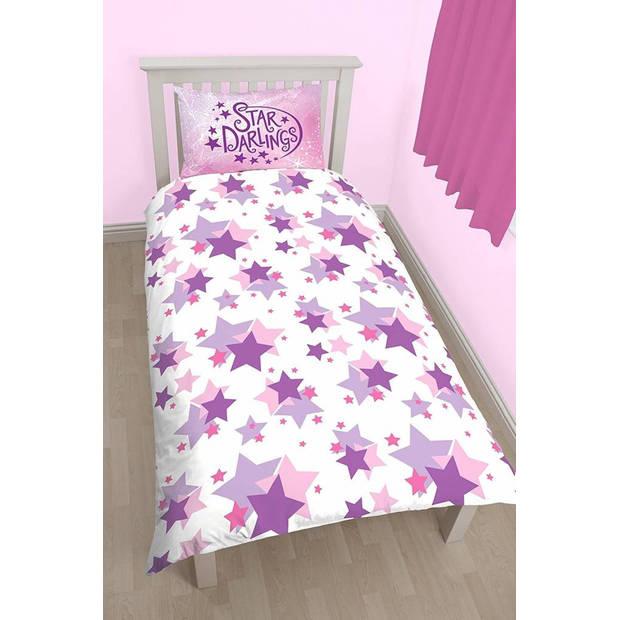Disney Shine - Dekbedovertrek - Eenpersoons - 135 x 200 cm - Roze