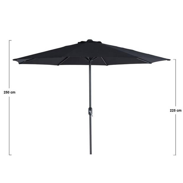 Garden Impressions Lotus parasol Ø300 cm - zwart