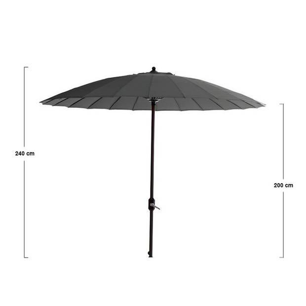 Garden Impressions Parasol Manilla 250 cm - donker grijs