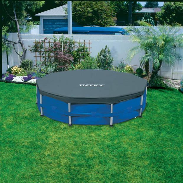 Intex rond afdekzeil voor zwembad - blauw