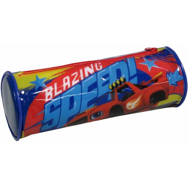 Blaze - Rond Etui - 22 cm - Blauw