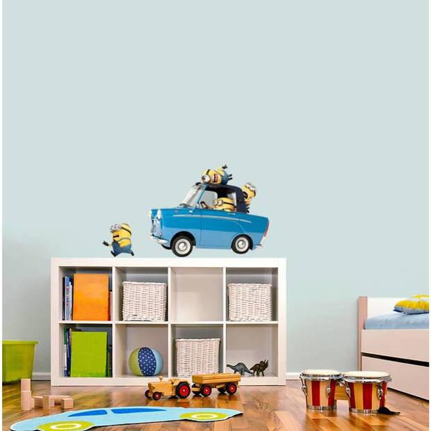 Car - muursticker - 50 x 70 cm - blauw